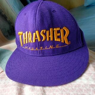 THRASHER - THRASHER MAGAZINE 紫キャップ