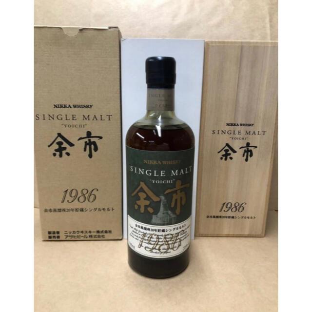 ニッカウヰスキー(ニッカウイスキー)のNIKKAニッカ余市1986年 食品/飲料/酒の酒(ウイスキー)の商品写真