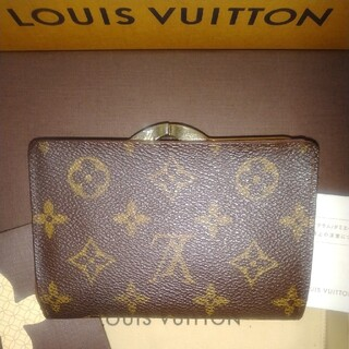 LOUIS VUITTON - ルイヴィトンがま口財布/折り財布
