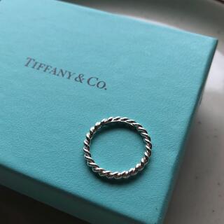 Tiffany & Co. - ティファニー シルバーウェーブリング 10号