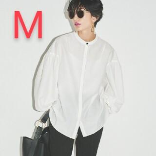 Mila Owen - 新品タグ付 スタンドカラー袖ボリュームブラウス M 白 Mila Owen