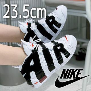 ナイキ(NIKE)の美品 希少! NIKE AIR MORE UPTEMPO ゼブラ 23.5cm(スニーカー)