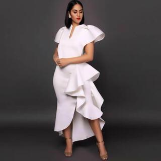 大きサイズふとよかさんもオシャレキュート上品なドレス2XL(衣装一式)
