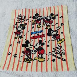 ミッキーマウス(ミッキーマウス)の新品 Disney ミッキーマウス&ミニーマウス レトロ柄タオル(タオル/バス用品)