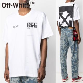 OFF-WHITE - OFF-WHITE オフホワイト ロゴ オーバーサイズ Tシャツ