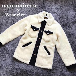 ナノユニバース(nano・universe)の美品  ナノユニバース ラングラー別注 ランチコート ボアジャケット  メンズS(ブルゾン)
