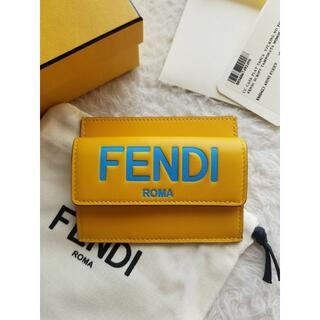 FENDI - FENDI フェンディ ロゴ コインポケット付 カードケース