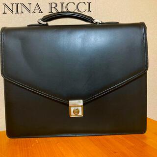 NINA RICCI - NINA RICCI ニナリッチ☆本革 ビジネスバッグ(ブラック)