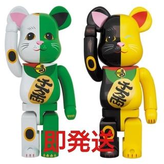 MEDICOM TOY - Be@rbrick 招き猫 白×緑 黒×黄 1000%セット