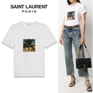 サンローラン(Saint Laurent)のSAINT LAURENT サンローラン VHS Sunset Tシャツ(Tシャツ(半袖/袖なし))