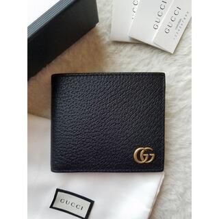 グッチ(Gucci)のGUCCI グッチ GGマーモント レザー コインウォレット 2つ折り財布(折り財布)