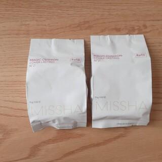 ミシャ(MISSHA)のミシャ クッションファンデ リフィル2個 NO21(ファンデーション)