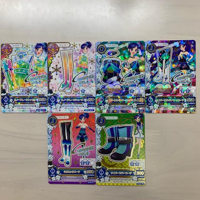 アイカツ!(アイカツ)の【初期アイカツカード】霧矢あおいちゃん 6枚 エンタメ/ホビーのアニメグッズ(カード)の商品写真