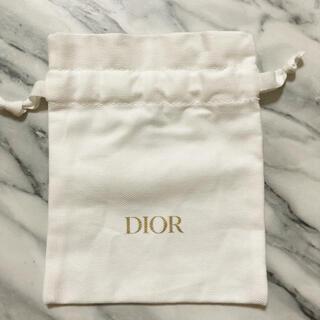 Dior - ディオール ノベルティ 巾着袋 ポーチ 白