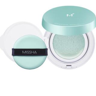 ミシャ(MISSHA)のミシャ M クッションベース 化粧下地 コントロールカラー  緑(ミント)(化粧下地)
