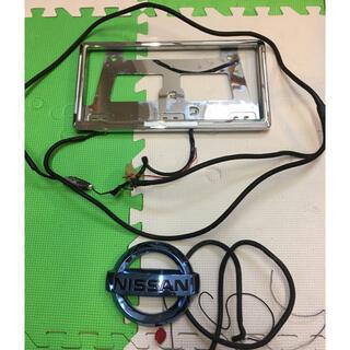 ニッサン(日産)のNISSANエンブレム LEDナンバープレート(車外アクセサリ)