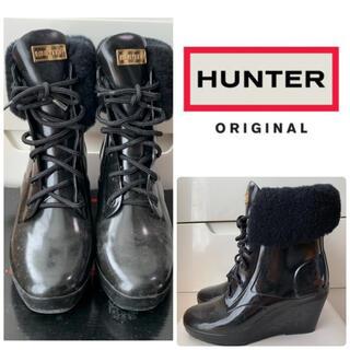ハンター(HUNTER)のハンター ブラックラバー レインブーツ(レインブーツ/長靴)