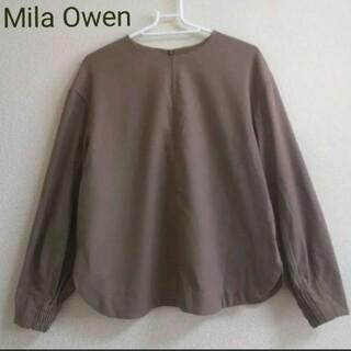 Mila Owen - Mila Owen ワイドシルエット ウール混ブラウス トップス
