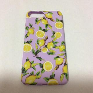 iPhone8ケース レモン パープル(iPhoneケース)