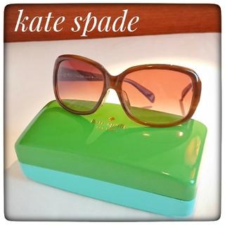 kate spade new york - 【kate spade ケイト・スペード】特大フレーム サングラス