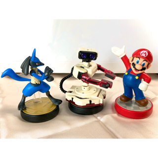 Nintendo Switch - アミーボ  ルカリオ  ロボット マリオ       セット amiibo