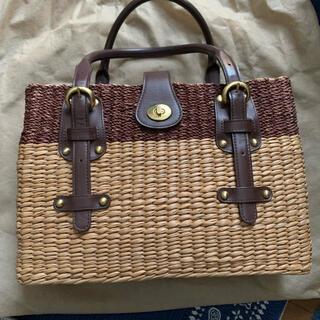 サザビー(SAZABY)のサザビー カゴ バック 保存袋つき(かごバッグ/ストローバッグ)