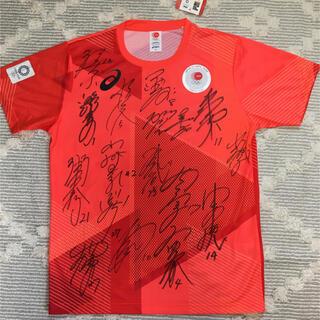 アシックス(asics)の東京2020オリンピック公式シャツXLソフトボール女子日本代表 フルサイン入り(記念品/関連グッズ)