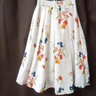 グレイル(GRL)の【GRL】花柄スカート 裏地付き Mサイズ(ロングスカート)