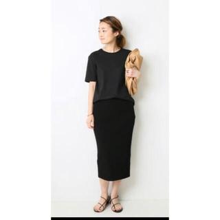 ドゥーズィエムクラス(DEUXIEME CLASSE)のDeuxieme Classe cut and sewn スカート 黒 38  (ひざ丈スカート)