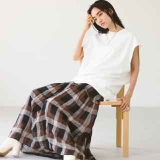 TODAYFUL - トゥデイフル chambray  check  skirt