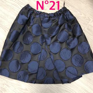 ヌメロヴェントゥーノ(N°21)のN°21★ヌメロヴェントゥーノ ドット柄スカート 水玉(ミニスカート)