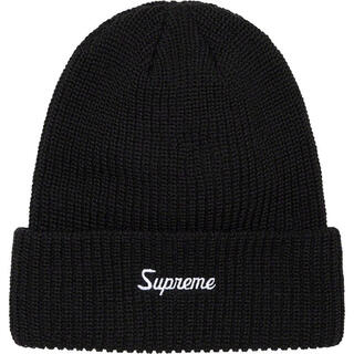 Supreme - supreme 2021fw loose gauge beanie ブラック