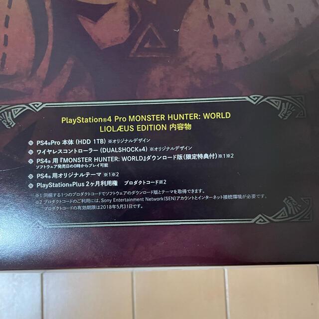 PlayStation4(プレイステーション4)のSONY PS4 Pro HDD 1TB 限定リオレウスエディション デザイン エンタメ/ホビーのゲームソフト/ゲーム機本体(家庭用ゲーム機本体)の商品写真