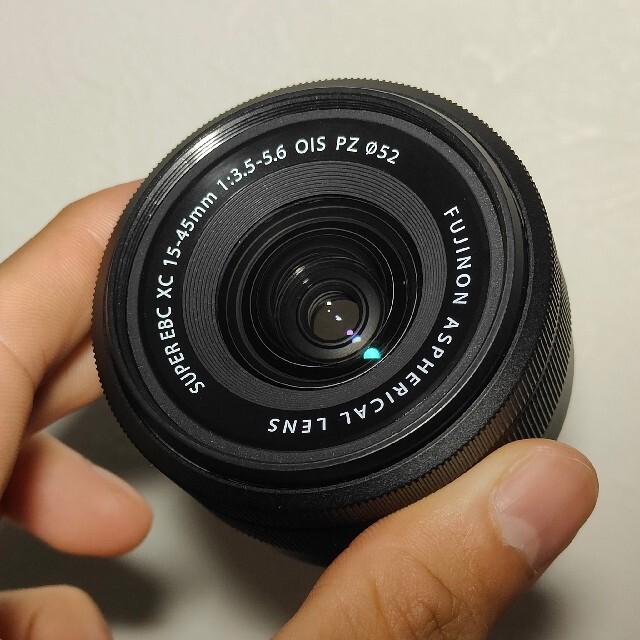富士フイルム(フジフイルム)のFUJIFILM XC15-45mm F3.5-5.6 OIS PZ ブラック スマホ/家電/カメラのカメラ(レンズ(ズーム))の商品写真