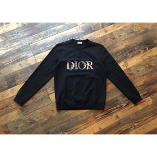 ディオール(Dior)のDIOR★フラワー刺繍ロゴ オーバーサイズ スウェット トレーナー(スウェット)