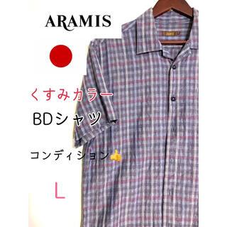 アラミス(Aramis)のARAMIS アラミス BDシャツ メンズ チェック シャツ くすみカラー(シャツ)