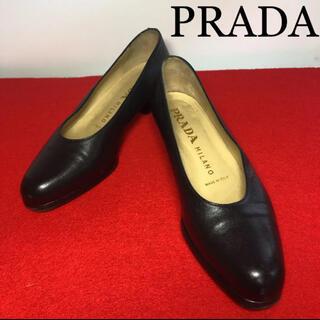 プラダ(PRADA)の【美品】☆PRADA 靴 パンプス  ブラック 361/2(ハイヒール/パンプス)