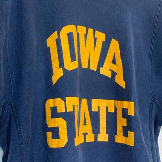 Champion - 80s usa IOWA State リバースウィーブ 半袖 紺黄