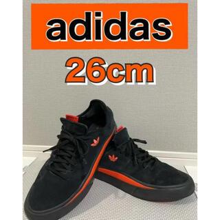 adidas - 【adidas】スニーカー ブラック オレンジ