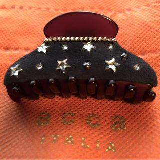 アッカ(acca)のアッカacca ストーン煌めく⭐️素敵なバンスクリップ ヘアクリップ5.5センチ(バレッタ/ヘアクリップ)