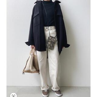 ジーユー(GU)のused●GU オーバーサイズシャツジャケツ(チェスターコート)