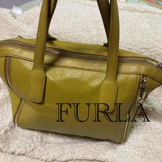 Furla - 匿名配送 美品 イエロー生地 中は紫の高級感のある生地オールシーズン○ママさんも