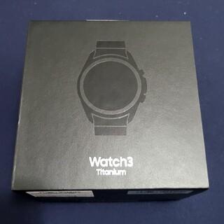 ギャラクシー(Galaxy)のGalaxy Watch 3 45mm チタン 国内版(腕時計(デジタル))