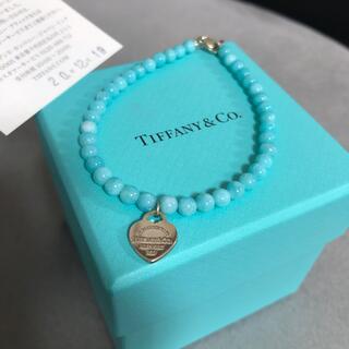Tiffany & Co. - ティファニー ハートタグ ビーズ ブレスレット