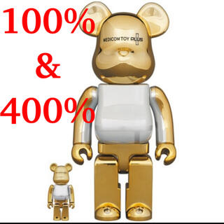 MEDICOM TOY - 【新品未開封】BE@RBRICK GOLD CHROME 100% & 400%