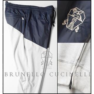 ブルネロクチネリ(BRUNELLO CUCINELLI)の新品大きいサイズXXLブルネロクチネリ裾ZIPジョガースウェットパンツW92~(その他)