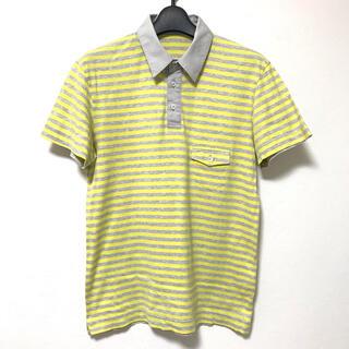 ポールスミス(Paul Smith)の定1.2万 PSポールスミス 襟切替ボーダー半袖ポロシャツM(ポロシャツ)