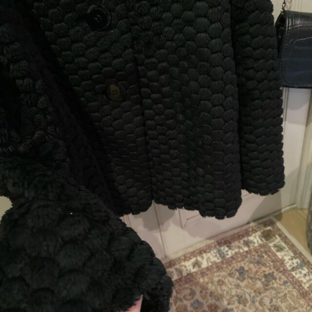 agnes b.(アニエスベー)の最終価格🥤agnes.bぽんぽんコートファーvintageditforlulu レディースのジャケット/アウター(その他)の商品写真