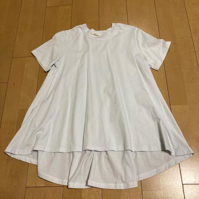 丈長め白Tシャツ✨ レディースのトップス(Tシャツ(半袖/袖なし))の商品写真