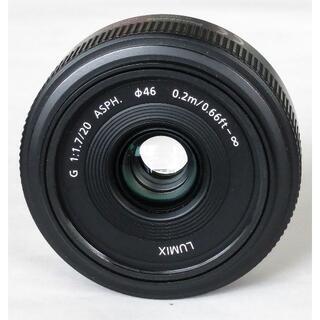 Panasonic - 美品 Panasonic LUMIX G 20mm F1.7 ポーチ付き